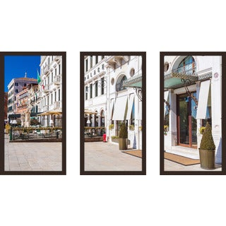 """Venice By Day"" Framed Plexiglass Wall Art Set of 3"
