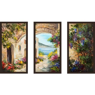 """European Vista 3"" Framed Plexiglass Wall Art Set of 3"