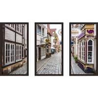 """Bremen"" Framed Plexiglass Wall Art Set of 3"