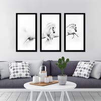 """In Pairs"" Framed Plexiglass Wall Art Set of 3"