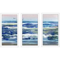 """H2O 1"" Framed Plexiglass Wall Art Set of 3"