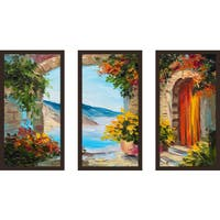 """European Vista 2"" Framed Plexiglass Wall Art Set of 3"