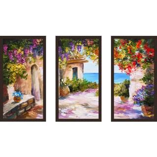 """European Vista 1"" Framed Plexiglass Wall Art Set of 3"