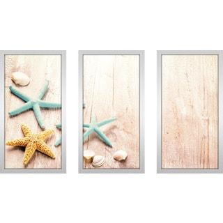"""""""Starfish Tripod"""" Framed Plexiglass Wall Art Set of 3"""