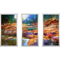 """Razzle Dazzle Drizzle 1"" Framed Plexiglass Wall Art Set of 3"