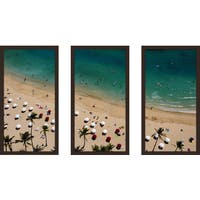 """Beach Please Xvii"" Framed Plexiglass Wall Art Set of 3"