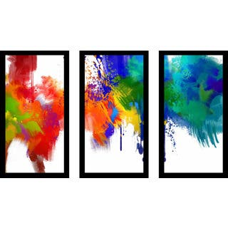 """""""The Laughing Truth"""" Framed Plexiglass Wall Art Set of 3"""