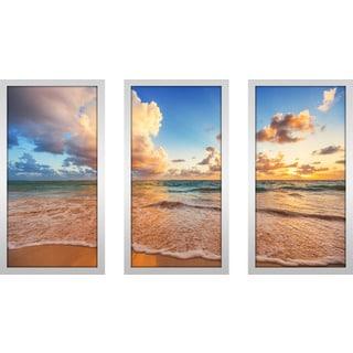 """""""Beyond The Horizon"""" Framed Plexiglass Wall Art Set of 3"""