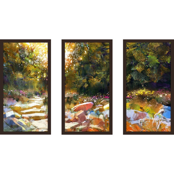 """Razzle Dazzle Drizzle 3"" Framed Plexiglass Wall Art Set of 3"