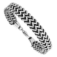 Men's Stainless Steel Double Herringbone Bracelet - Silver