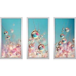 "Sharon Johnstone ""Cactus Candy"" Framed Plexiglass Wall Art Set of 3"