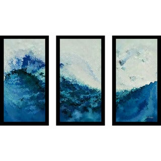 "Mark Lawrence ""Tempest Ik"" Framed Plexiglass Wall Art Set of 3"