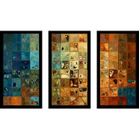 """Mark Lawrence """"Ta11-2009 Max"""" Framed Plexiglass Wall Art Set of 3"""