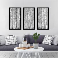 """Birching Around 6"" Framed Plexiglass Wall Art Set of 3"