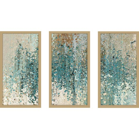"Mark Lawrence ""Romans 8 38 Max"" Framed Plexiglass Wall Art Set of 3"