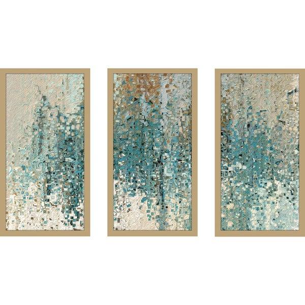 "Mark Lawrence ""Romans 8 38 Max"" Framed Plexiglass Wall Art Set of 3"