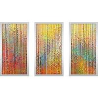 "Mark Lawrence ""Psalm 27 14 Max"" Framed Plexiglass Wall Art Set of 3"