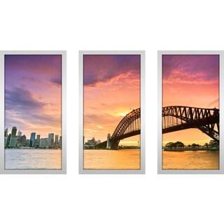 """""""Sydney"""" Framed Plexiglass Wall Art Set of 3"""