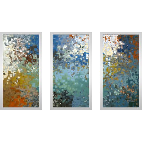 "Mark Lawrence ""Psalm 121 7 Max"" Framed Plexiglass Wall Art Set of 3"
