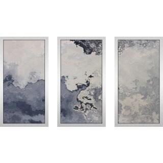 "Mark Lawrence ""Psalm 107 7 Max"" Framed Plexiglass Wall Art Set of 3"