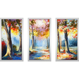 """Forest Of Secrets 1"" Framed Plexiglass Wall Art Set of 3"