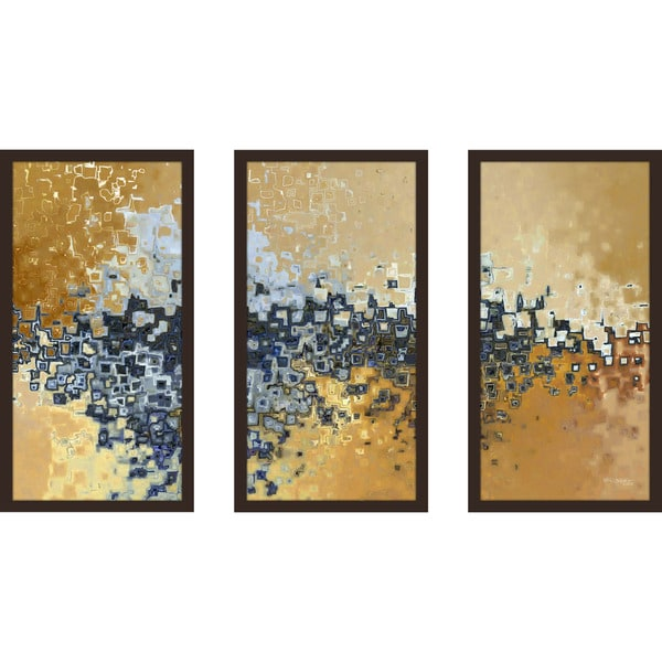 "Mark Lawrence ""Philippians 1 6 Ik"" Framed Plexiglass Wall Art Set of 3"