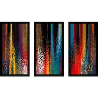 """Mark Lawrence """"Matthew 18 3 Ik"""" Framed Plexiglass Wall Art Set of 3"""