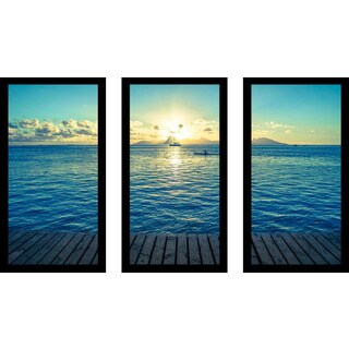 """In The Distance"" Framed Plexiglass Wall Art Set of 3"