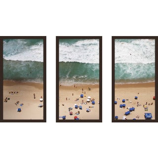 """Beach Please Ii"" Framed Plexiglass Wall Art Set of 3"