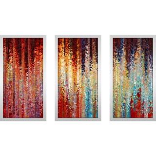 "Mark Lawrence ""John 21 17 Max"" Framed Plexiglass Wall Art Set of 3"