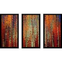 "Mark Lawrence ""John 18 36 Max"" Framed Plexiglass Wall Art Set of 3"