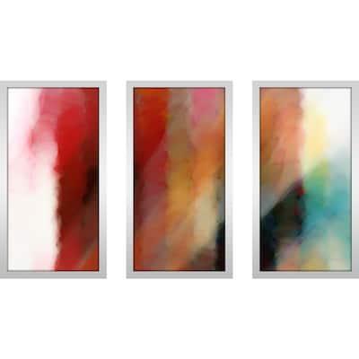 "Mark Lawrence ""John 16 14 Ik"" Framed Plexiglass Wall Art Set of 3"