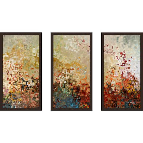 "Mark Lawrence ""Joshua 1 9 Ik"" Framed Plexiglass Wall Art Set of 3"