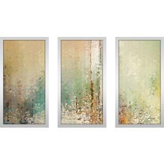 "Mark Lawrence ""John 12 32 Max"" Framed Plexiglass Wall Art Set of 3"
