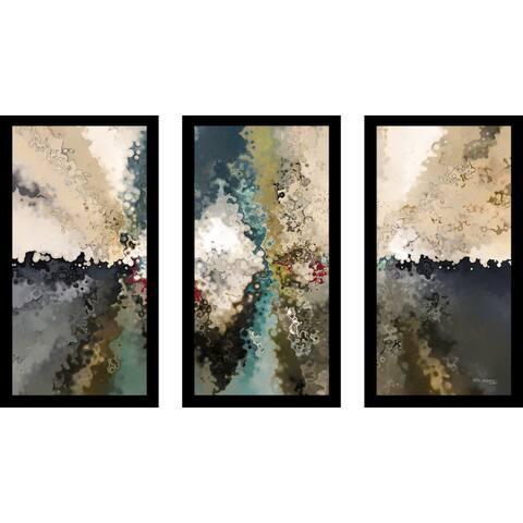 "Mark Lawrence ""John 10 10 Ik"" Framed Plexiglass Wall Art Set of 3"