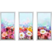 """Force Of Nature"" Framed Plexiglass Wall Art Set of 3"