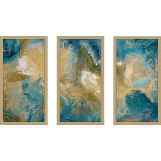 "Mark Lawrence ""Isaiah 33 17 Max"" Framed Plexiglass Wall Art Set of 3"