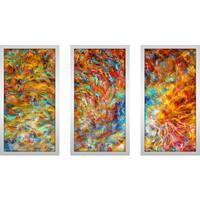 "Mark Lawrence ""Isaiah 24 23 Max"" Framed Plexiglass Wall Art Set of 3"