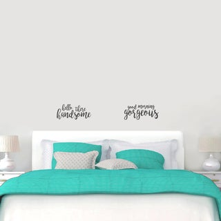Small Handsome Gorgeous Wall Decals