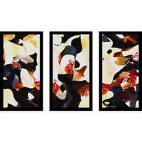 "Mark Lawrence ""Hosea 5 15 Max"" Framed Plexiglass Wall Art Set of 3"