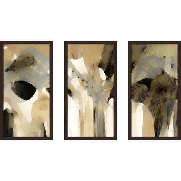 """Mark Lawrence """"Genesis 31 11 Ik"""" Framed Plexiglass Wall Art Set of 3"""