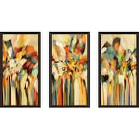 "Mark Lawrence ""Genesis 19 15 Ik"" Framed Plexiglass Wall Art Set of 3"