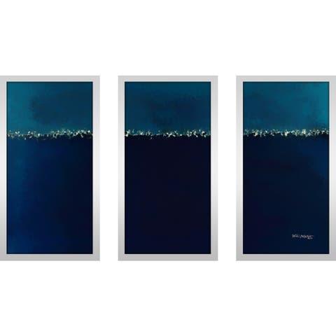 "Mark Lawrence ""Genesis 1 2 Max"" Framed Plexiglass Wall Art Set of 3"
