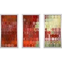 "Mark Lawrence ""Cs42 Max"" Framed Plexiglass Wall Art Set of 3"