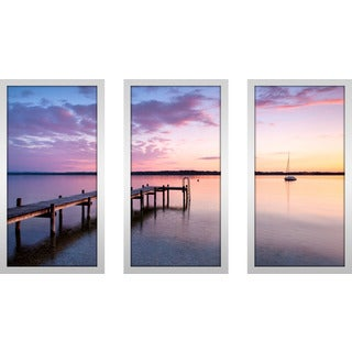 """""""Out By The Dock"""" Framed Plexiglass Wall Art Set of 3"""