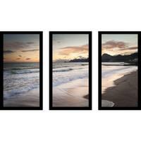 """Tranquility"" Framed Plexiglass Wall Art Set of 3"
