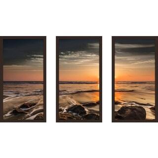 """Sense Of Direction"" Framed Plexiglass Wall Art Set of 3"