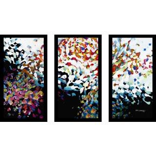 "Mark Lawrence ""Acts 2 38 Max"" Framed Plexiglass Wall Art Set of 3"