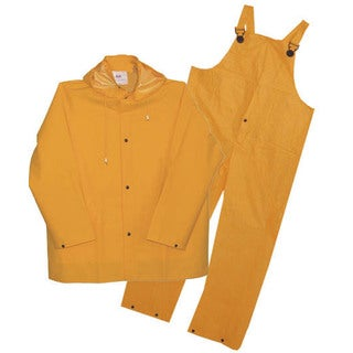 Boss Rainwear 3PR0300YJ Yellow Lined PVC Rainsuit 3 Piece