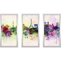 """""""Paris"""" Framed Plexiglass Wall Art Set of 3"""